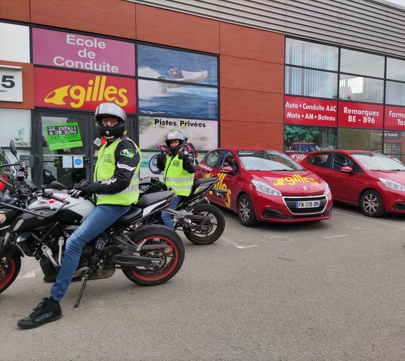 Moto Gilles Auto Ecole 45 1